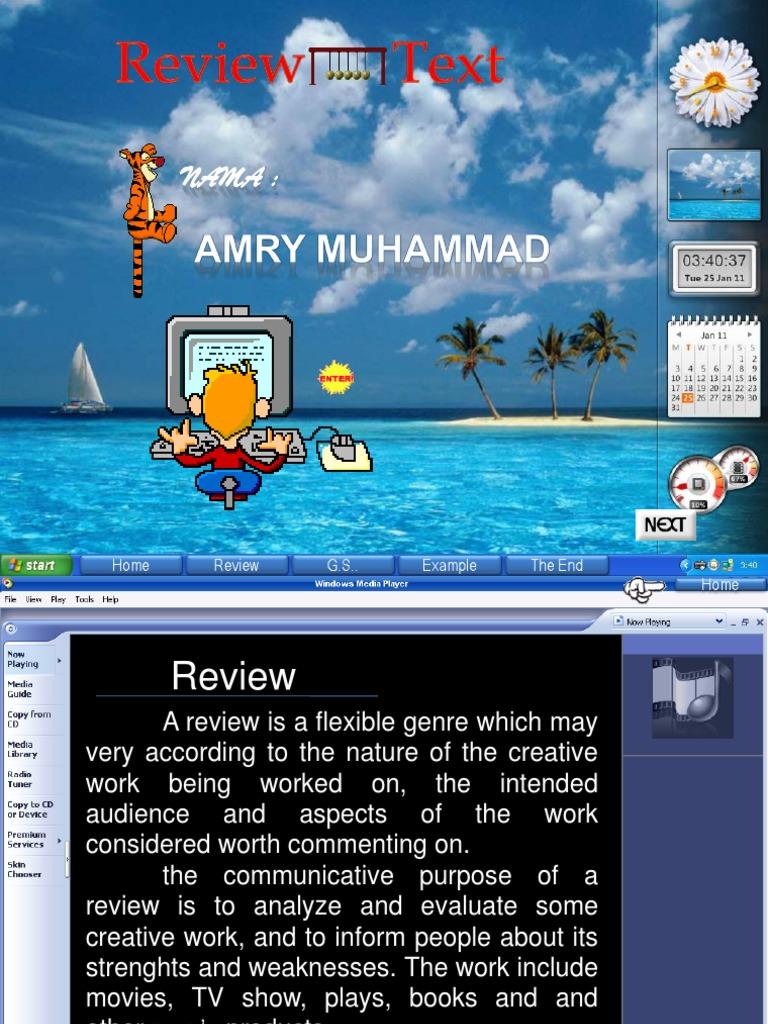 Contoh review text novel