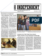 Faith Independent, November 7, 2012