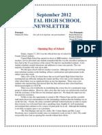 2012 September Capital High Newsletter
