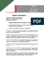 02-11-2011 Reporta Saldo Blanco Operativo en Panteones.