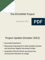 Evaluation Plan - Kivumwi Project - Trupin