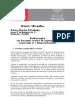 07-11-2011 en Guadalajara 2do. Encuentro Nacional de Organizaciones Involucradas en El Manejo de Residuos