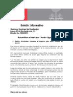 """07-11-2011 Rehabilitan el mercado """"Pedro Ogazón"""""""