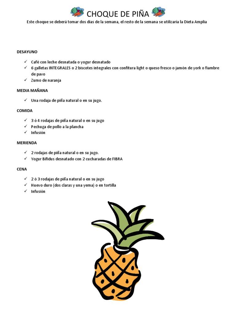 dieta de la pina pollo y huevo