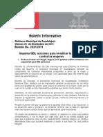 25-11-2011 Impulsa GDL Acciones Para Erradicar La Violencia Contra Las Mujeres.