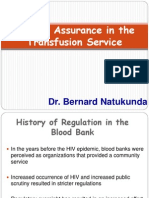 Quality Assurance in the Transfusion Service - Bernard