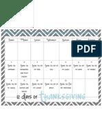 12 days of Thanksgiving
