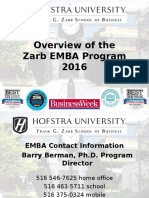 An Overview of the Zarb EMBA Program