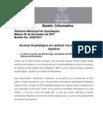 07-12-2011 Avanza Guadalajara en restituir los derechos de tapatío
