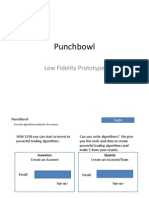 Punchbowl - Low Fidelity Mock