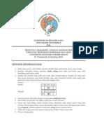 Naskah Soal Penyisihan Kompetisi Matematika Unpar 2012 Tingkat Sma