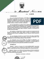 Directiva 014-2012-MINEDU.VMGP