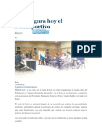 Se inagura hoy el Polideportivo, El Mexicano El Gran Diario Regional, 06 Nov 2012