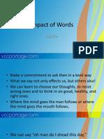Impact of Words