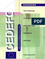 The Financing of Vocational Education and Training in Germany