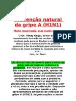 Prevenção natural da gripe A
