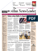 The Milan News Leader Front Page
