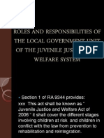Roles and Responsibilities of the Local Government Unit