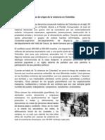 Etapas de Origen de La Violencia en Colombia