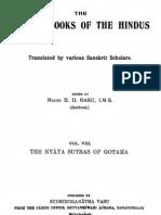 Nyaya Sutras of Gautama Text