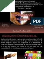 La Discriminacion en General