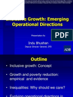 Inclusive Growth Emerging Operational Directions