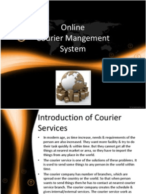 Online Courier Management System | Courier | Invoice