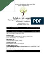 2012 Lifetime of Learning Agenda