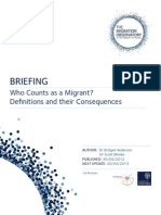 Briefing - Who Counts as a Migrant