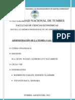 ADMINISTRACIÓN DE LA TEORÍA CAJA Y BANCOS