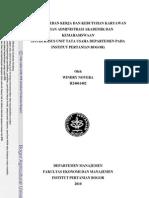 Analisis Beban Kerja Dan Kebutuhan Karyawan Bagian Administrasi Akademik Dan Kemahasiswaan Studi Kasus Unit Tata Usaha Departemen Pada Institut Pertanian Bogor