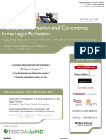 Managing Information and Governance in the Legal Profession