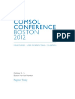 COMSOL Conference 2012 Invitation