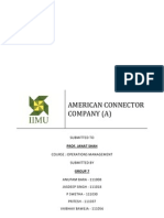 American Connector Company (a) - Case Analysis