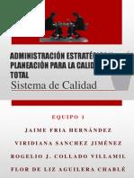 ADMINISTRACIÓN ESTRATÉGICA Y PLANEACIÓN PARA LA CALIDAD TOTALexpo