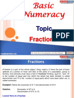 Basic Numeracy Fractions
