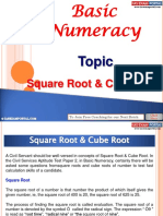 Basic Numeracy Square Cube Root