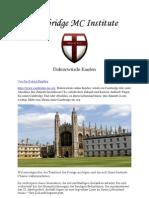 Doktorwürde kaufen, Cambridge Titel - Ihr Erfolg