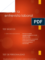 Los Tests en La Entrevista Laboral