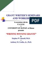 Grant Writer's Seminars and Workshops
