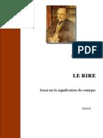 Bergson- Le Rire