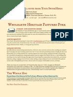 Wholearth Heritage Pastured Pork 2012