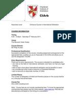 Arbitration Entrance Course Details