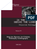 IN THE MARGINS BEHIND THE LINES Collected Writings Volume VI