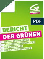 Korruptions U-Ausschuss - Abschlussbericht der Grünen
