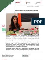 06-11-12 Boletin 811 Gobierno de La Gente Busca Mejorar Competitividad en Nayarit