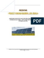 Prezentare Proiect Fotovoltaic Galbenu