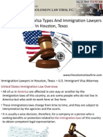 USA Immigration Visa Types And Immigration Lawyers In Houston, Texas