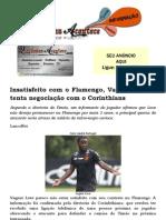 Insatisfeito com o Flamengo, Vagner Love já tenta negociação com o Corinthians