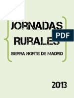 Jornadas Rurales Sierra Norte de Madrid